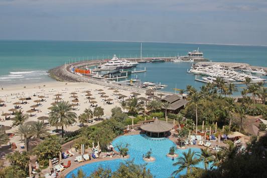 Dubai luxury hotels: View from Jumeirah Beach Hotel.