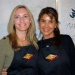 Andrea (left) and friend at Il Campo Cucina - a Tuscany cooking school.