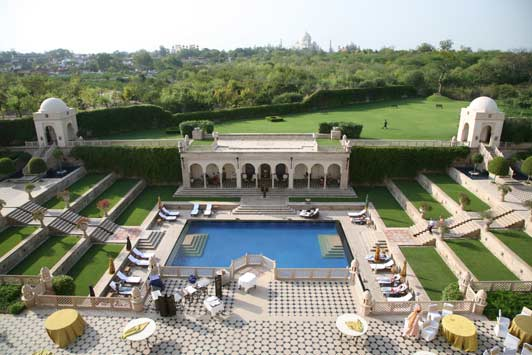 The Oberoi in Agra is the only hotel that provides a view of the Taj Mahal.  Credit: ADAMS / HANSEN STOCK PHOTOS.