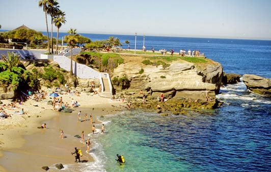 La Jolla Cove is a great place for snorkeling.