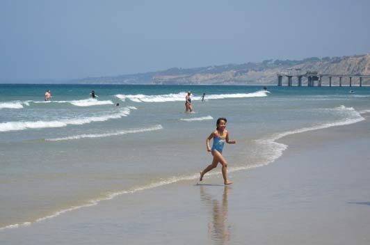 La Jolla Shores Beach is a family-friendly place to play in the sand.