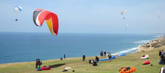 The Torrey Pines Gliderport is home to the Cliff Hanger Cafe.
