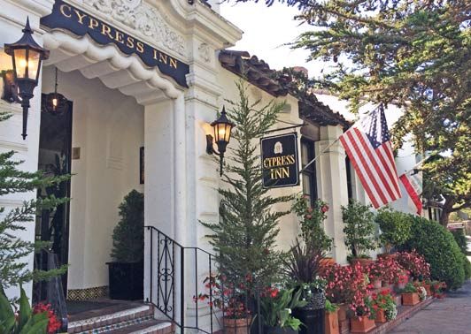 The Cypress Inn is a pet-friendly Carmel hotel. Credit Maggie Espinosa.
