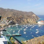 The Inn on Mt. Ada offer a panoramic view of the marina in Avalon Bay.