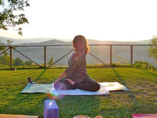 A yoga twist in Tuscany with Anne Marie Welsh.