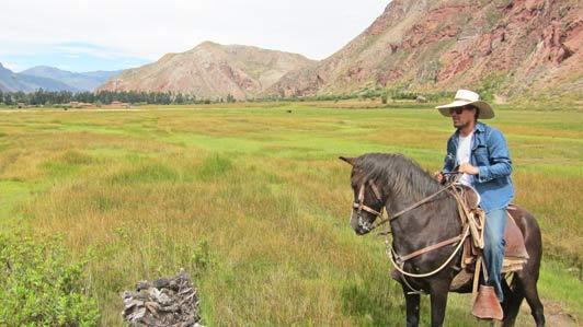 Peruvian paradise: Pablo and his Paso.