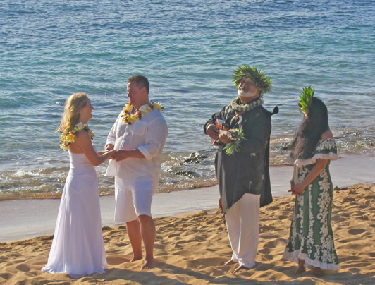 Vacation rentals in Hawaii provide scenic spots and privacy for destination weddings.