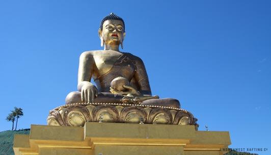 The Buddha Dordenma overlooks the capital city of Thimphu.