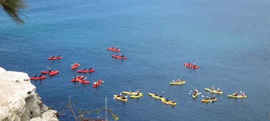 Will you kayak at The Cove while you're in La Jolla?