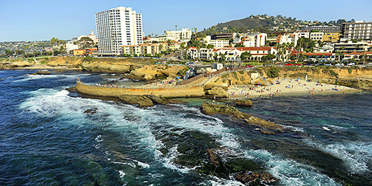 The winners of the Delicious La Jolla Getaway will fly over the San Diego coast with Icon Helicopters.