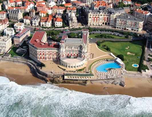 Hotel du Palais, Biarritz, France.