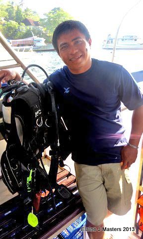 Dive Master, Photo credit Elaine J. Masters