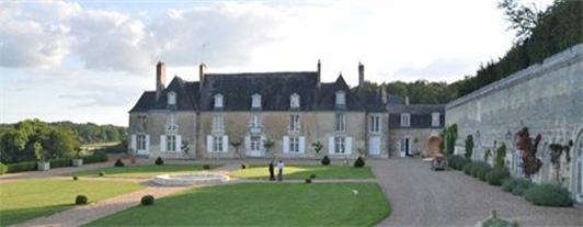 The beautiful, historic Chateau d'Hodebert is located in the Loire Valley.