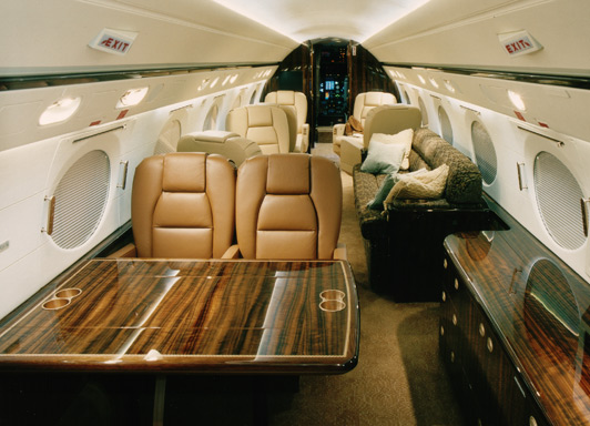 Renting a private jet means getting to your destination is part of the fun. Photo credit: Jet Source.