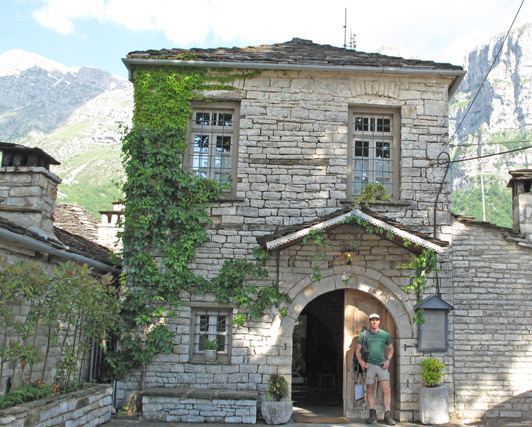 Guesthouse was created from stones wood, old door from delapidated village houses.