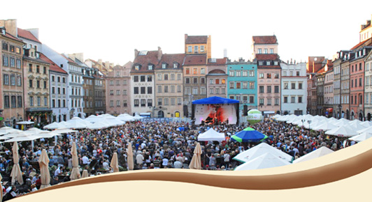 International jazz at the Old Town Square Festival.
