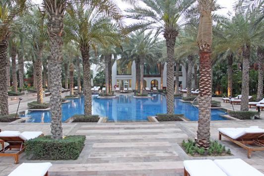 Dubai luxury hotels: The Park Hyatt enjoys a quiet creekside setting.