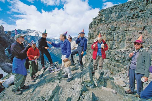 Tips for planning 3-G trips: celebrating a family birthday atop Whistler Mountain.
