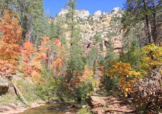 Sedona Arizona - Some of Sedona's best hiking trails are in Oak Creek Canyon.