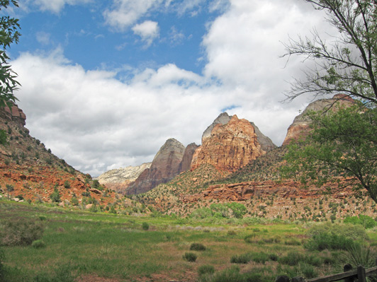 USA National Parks - Zion NP in Utah's red rock country.