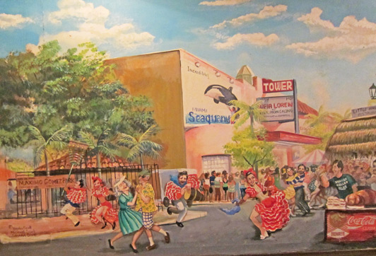 Mural at Little Havana - a great spot for Miami Cuban cuisine.