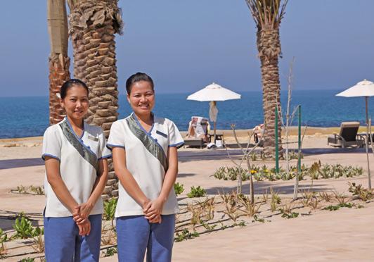 Talented spa staff, Desert Islands Resort, Abu Dhabi.