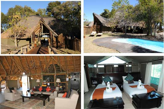 Luxury lodging and meals in the bush.