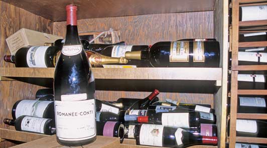 A Methuselah of Romanee Conti at Kittle House. ADAMS / HANSEN STOCK PHOTOS.