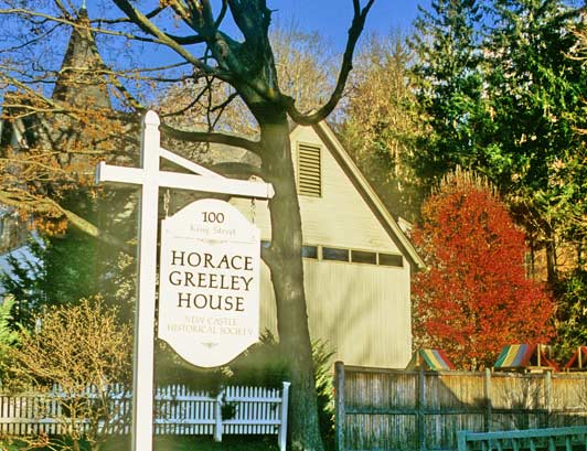 Horace Greeley's residence is now home to the New Castle Historical Society. ADAMS / HANSEN STOCK PHOTOS.