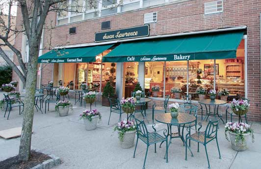 Susan Lawrence serves delicious cakes, pastries, and lunches. Credit Joe Budd.