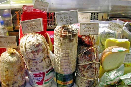 Authentic Florence: Meats and cheeses at L'Antico Trippaio. Photo credit: Art Moldavia.