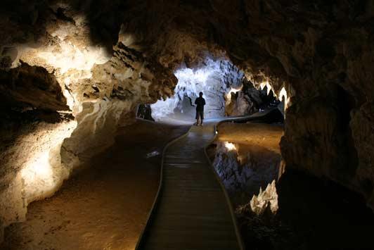 Walking through Spellbound's Cave of the Spirit.