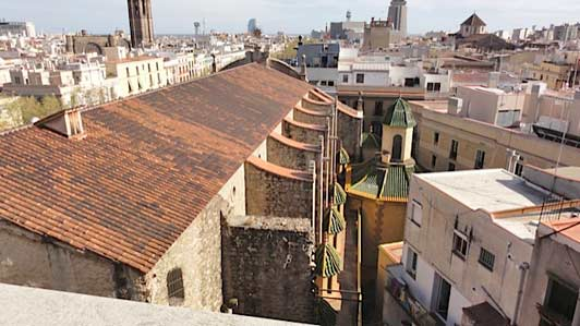 View of Barcelona from Hotel 1898 roof garden.