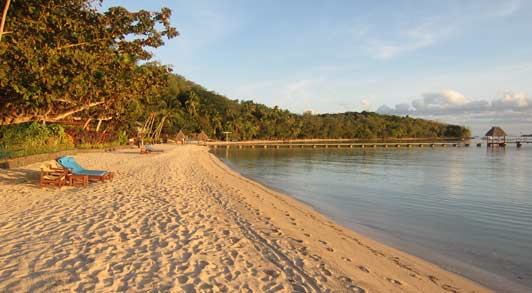 Multiple crescent beaches means that couples can have one all to themselves.
