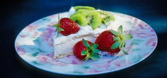 My favorite pavlova recipe comes from Christchurch, New Zealand.