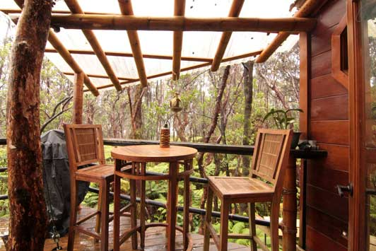 How about Thanksgiving in a treehouse near the Kilauea Volcano on the Big Island of Hawaii?