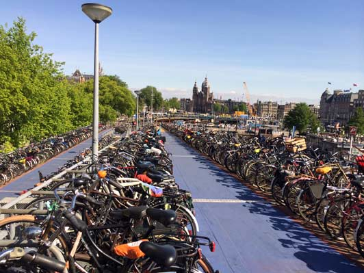 First time in Europe...Amsterdam...bicycles everywhere