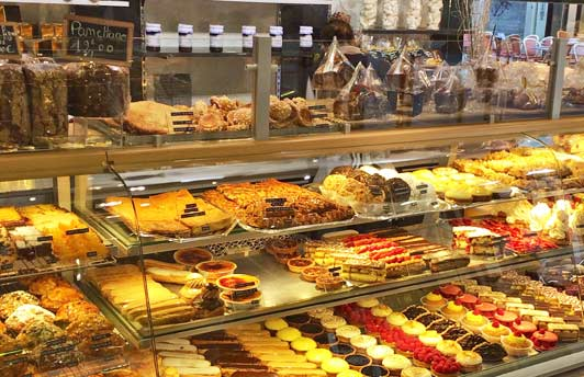 First time in Europe: no shortage of pastries!