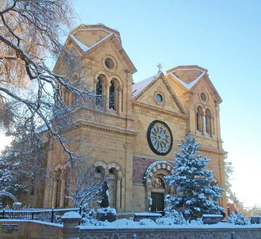 Winter concerts take place at Santa Fe's Cathedral Basilica of St. Francis of Assisi, the life's work of Bishop Jean-Baptiste Lamy. The Bishop was the subject of Willa Cather's well-known book, Death Comes for the Archbishop.