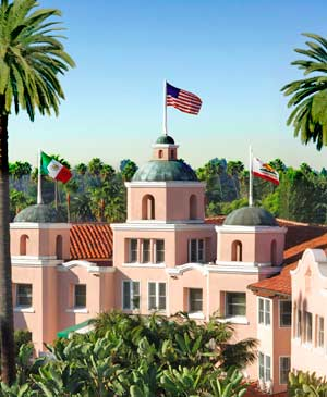 "The ""Pink Palace"" is easily the most romantic Los Angeles hotel."