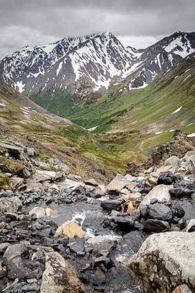 Akaska hiking trails: Crow Pass Trail, Girdwood. Photo Victoria Lynn Pennick.