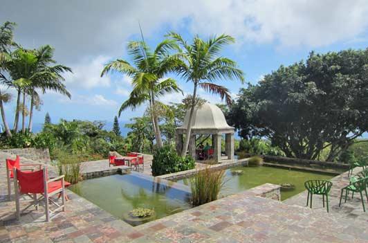 Golden Rock Inn occupies 100 acres on the slopes of Nevis Peak.