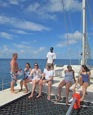 Nevis based Leeward Island Charters takes guest to nearby St. Kitts for snorkeling.