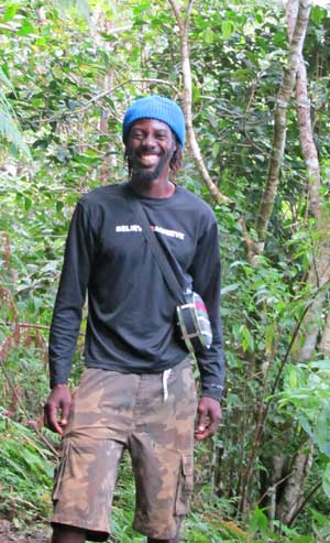 Hikers on Nevis Peak couldn't ask for a better guide than multi-sport athlete Reggie Douglas.