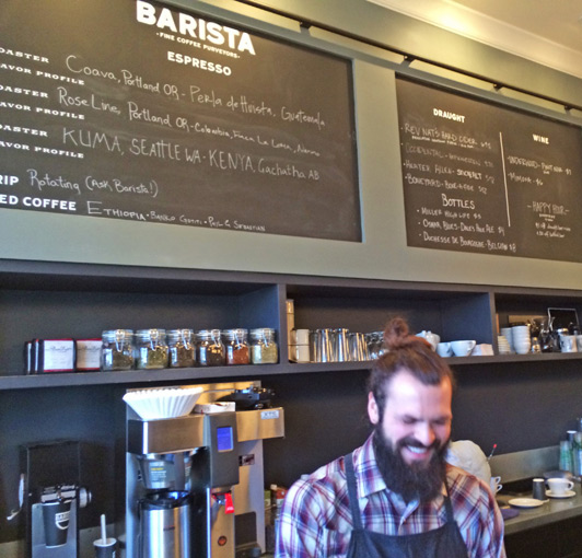 Portland's Barista, where coffee is king.