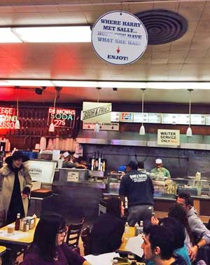 Where Harry Met Sally: Katz's Deli, East Houston Street, Lower East Side of Manhattan, New York City, USA, Earth. Been around since 1888.