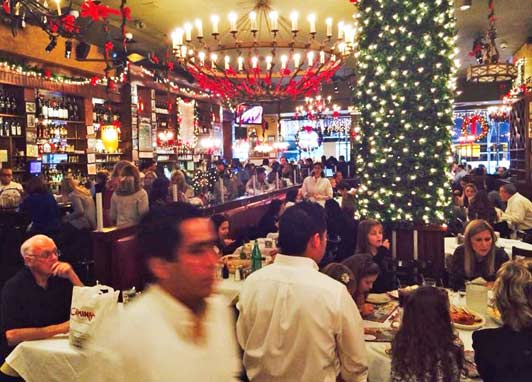 Larry's first New York stop: Carmine's.