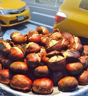 Iconic New York: roast chestnuts.