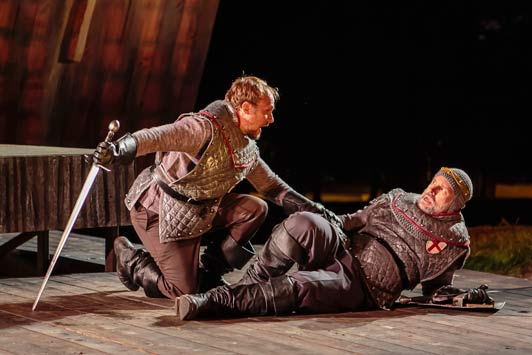 Jim Butz* and Michael James Reed* in Henry IV. Photo by J. David Levy * Denotes member, Actors' Equity Association.