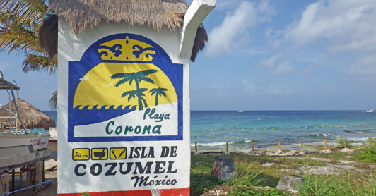 The Playa Carona beachclub and cantina has a low-key, funky appeal (and pretty good snorkeling)